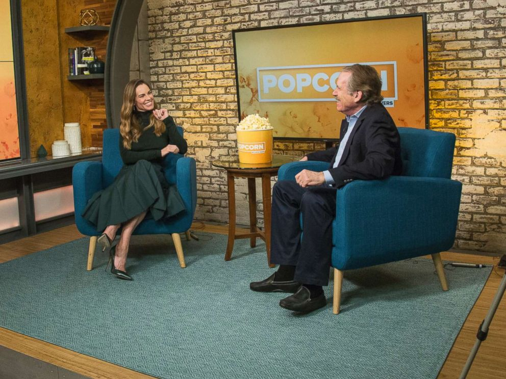 PHOTO: Hillary Swank appears on Popcorn with Peter Travers at ABC News studios, Oct. 11, 2018, in New York.
