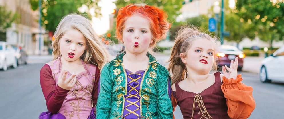 "PHOTO: Mom Heather Grabenstein of Waco, Texas, is dressing her daughters, Landri, 6, and Alli and Maddi, both 8, as the Sanderson sisters from the classic Halloween film, ""Hocus Pocus."""