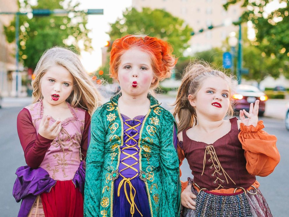 PHOTO: Mom Heather Grabenstein of Waco, Texas, is dressing her daughters, Landri, 6, and Alli and Maddi, both 8, as the Sanderson sisters from the classic Halloween film, Hocus Pocus.