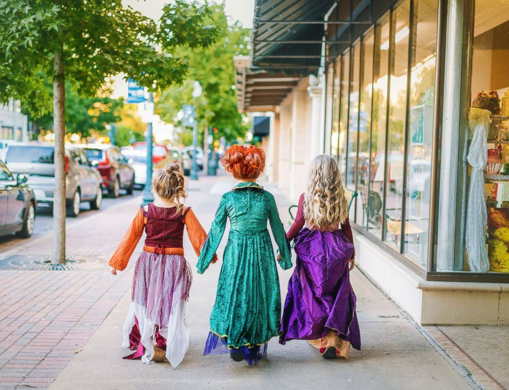 PHOTO: The Grabenstein sisters Landri, 6, and Alli and Maddi, both 8, will transform into the Sanderson sisters from Hocus Pocus this Halloween.