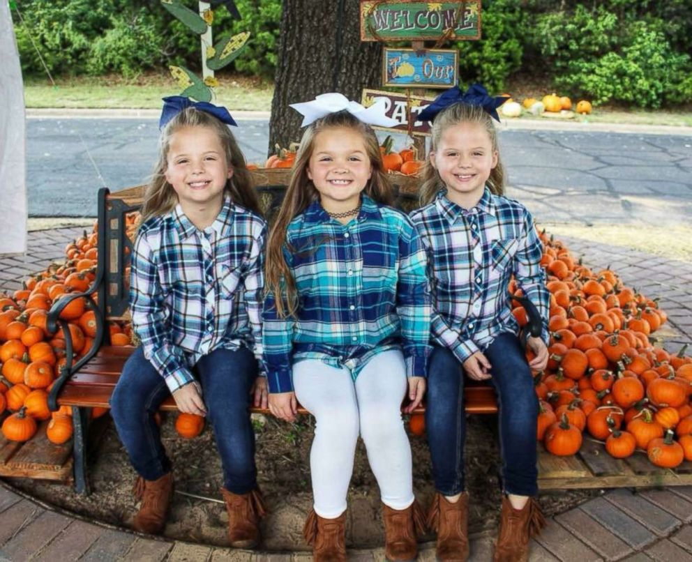 PHOTO: The Grabenstein sisters Landri, 6, and Alli and Maddi, both 8, are seen here without their Halloween makeup.