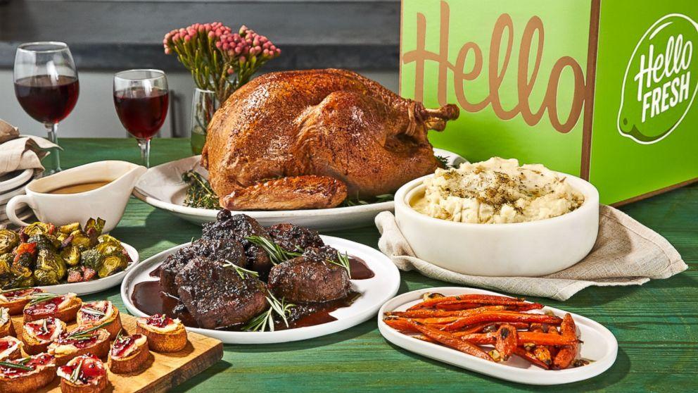 PHOTO: Holiday meal kit from HelloFresh.