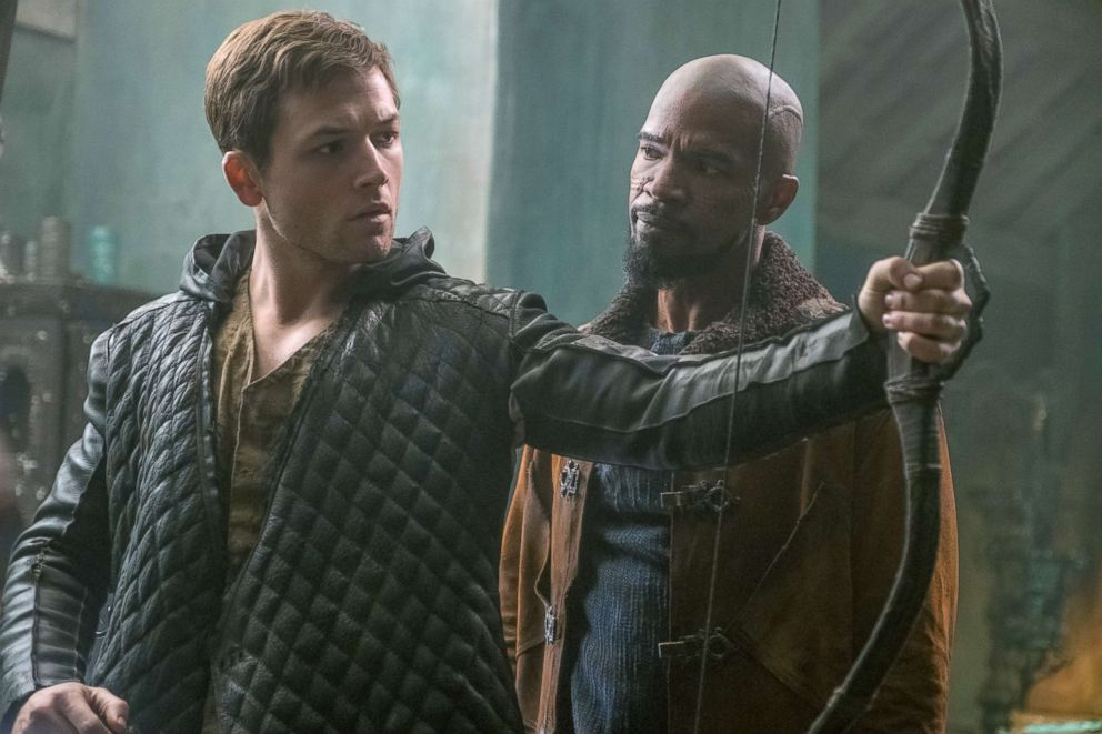 PHOTO: Taron Egerton and Jamie Foxx in a scene from Robin Hood.