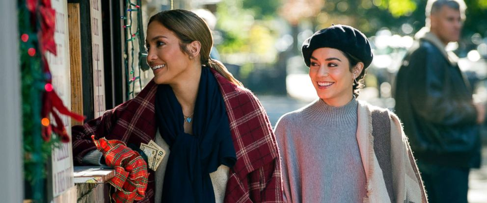 "PHOTO: Jennifer Lopez and Vanessa Hudgens in a scene from ""Second Act."""