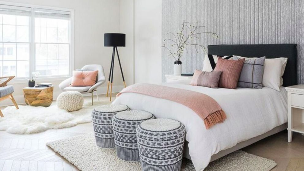 Johnny Earle and Katie Freketic combined their design styles in their bedroom.