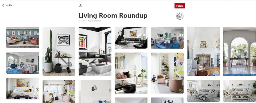 PHOTO: Designer Sonya Randell recommends using a tool like Pinterest to create a design mood board.