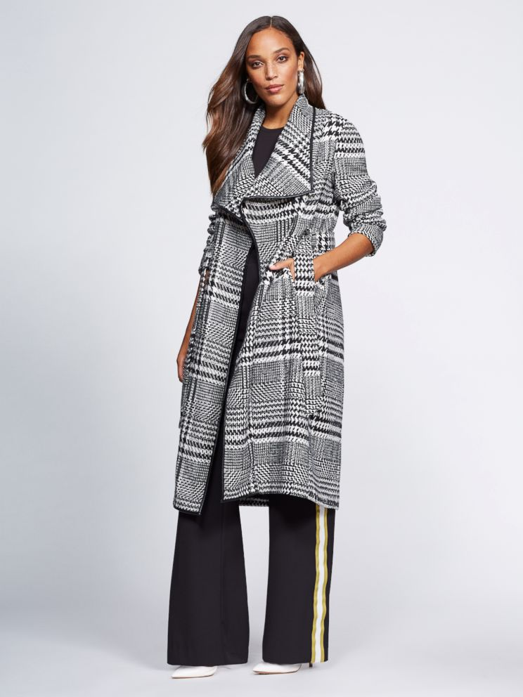 PHOTO: This Houndstooth Wool-Blend Coat is from Gabrielle Unions NY & Co. collection.