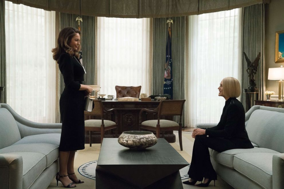 PHOTO: Robin Wright and Diane Lane star in House Of Cards, season 6.