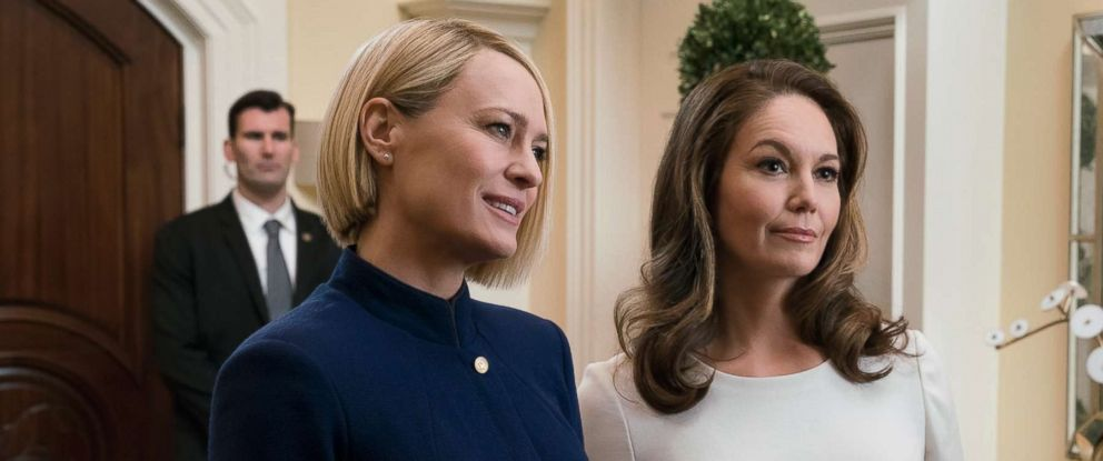 "PHOTO: Robin Wright and Diane Lane star in ""House Of Cards,"" season 6."