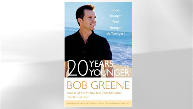 PHOTO: Book jacket cover for Bob Greenes book, 20 Years Younger.