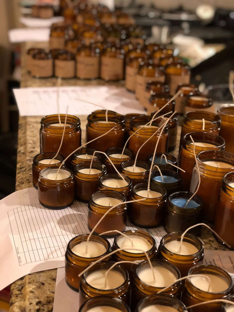 PHOTO: Candles made by Colin, Ryan and Austin Gill for their company Frères Branchiaux.