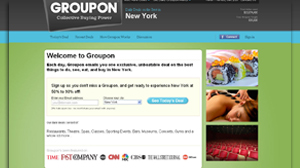 PHOTO Groupon.com is a Web site for group coupons, where collective buying power can mean big savings.