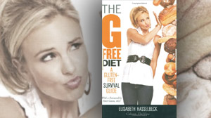 """The cover for the book, """"The G-Free Diet: A Gluten-Free Survival Guide,"""" by Elisabeth Hasselbeck is shown."""