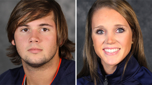 PHOTO George Huguely, 22, left, has been charged in the death of Yeardley Love, right, also 22, of Cockeysville, Md.