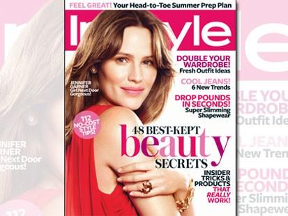 Jennifer Garner on the cover of InStyle Magazine
