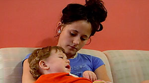 "PHOTO Jenelle Evans, mother of 1-year-old Jace, found reality fame first on MTVs ""Sixteen and Pregnant"" and now on ""Teen Mom 2."""