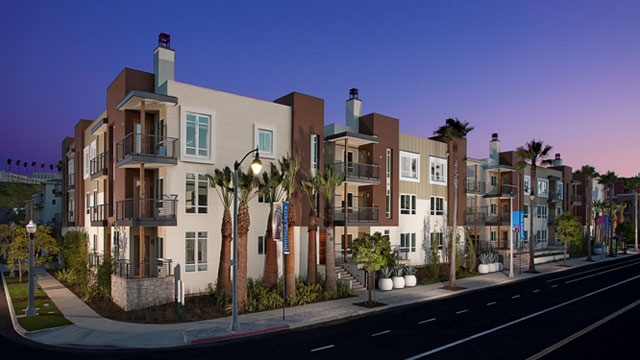 PHOTO: KB Homes Primera Terra residential community located in Playa Vista, California. It is the largest LEED Platinum-certified residential community in California, featuring energy-efficient tankless water