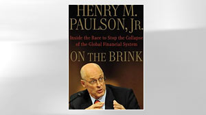 "Henry Paulsons book ""On the Brink."""