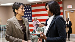 Photo: Robin Roberts interviews Michelle Obama