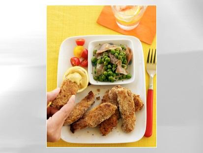 PHOTO Honey-mustard turkey strips are shown in this file photo.