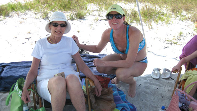 PHOTO: Dr. Christine Teal and her mother, Nancy Brown, enjoy a family vacation after Christys mastectomy to prevent breast cancer.