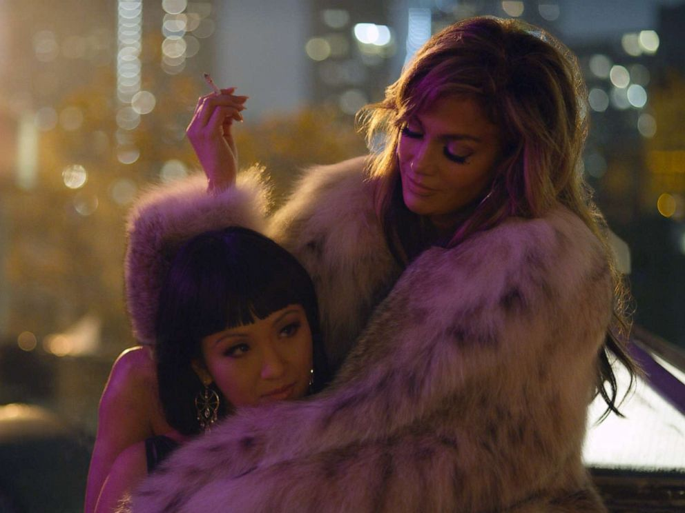 PHOTO: Constance Wu, left, and Jennifer Lopez in a scene from Hustlers.