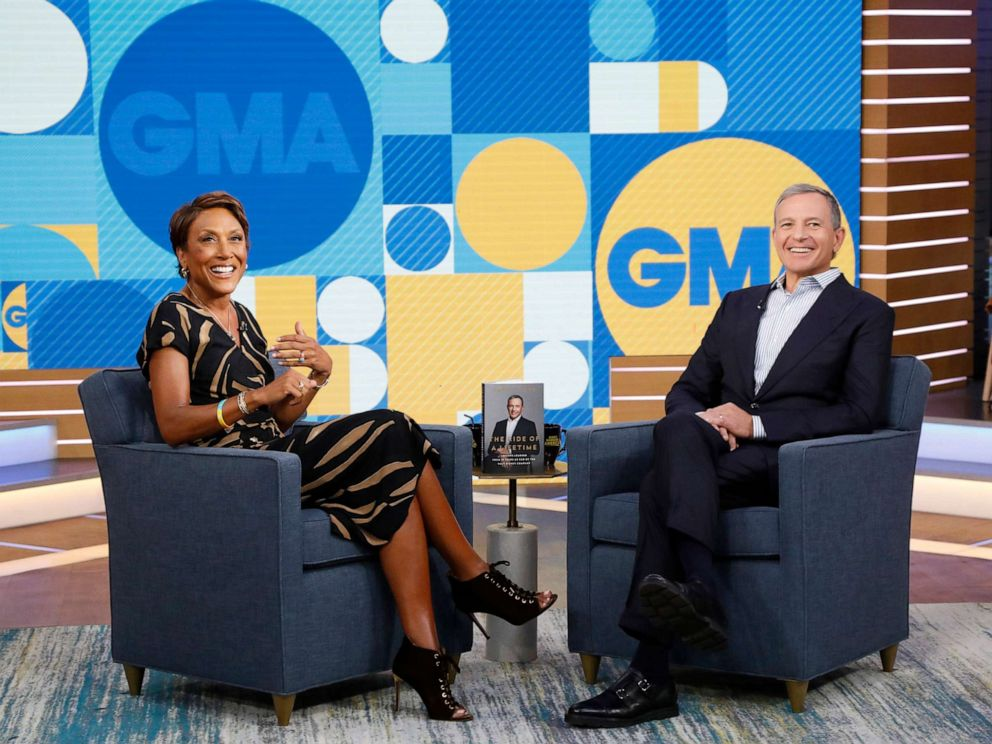 PHOTO: Chairman and Chief Executive Officer of the Walt Disney Company Bob Iger is a guest on Good Morning America, September 23, 2019, on the Walt Disney Television Network.
