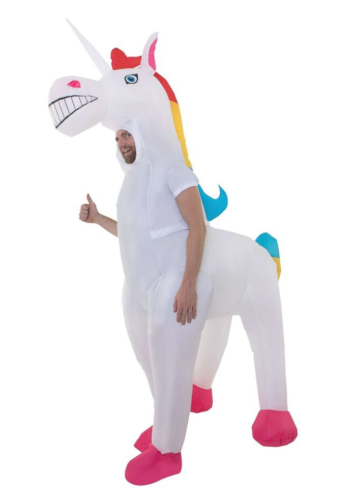 PHOTO: The adult's giant inflatable unicorn costume is listed for $59.99.