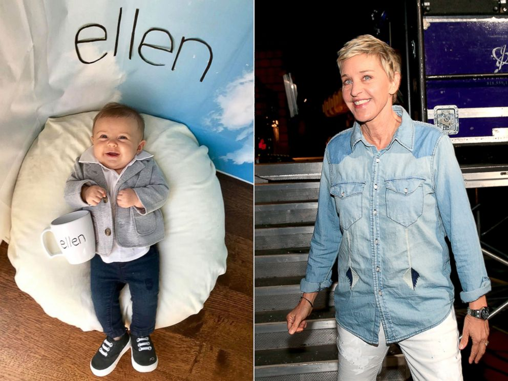 PHOTO: Liberty Wexler, 3 months, is seen here dressed as American comedian, Ellen DeGeneres.
