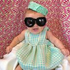 Liberty Wexler, 3 months, is seen here dressed as Jacqueline Kennedy Onassis, the former first lady of the United States.