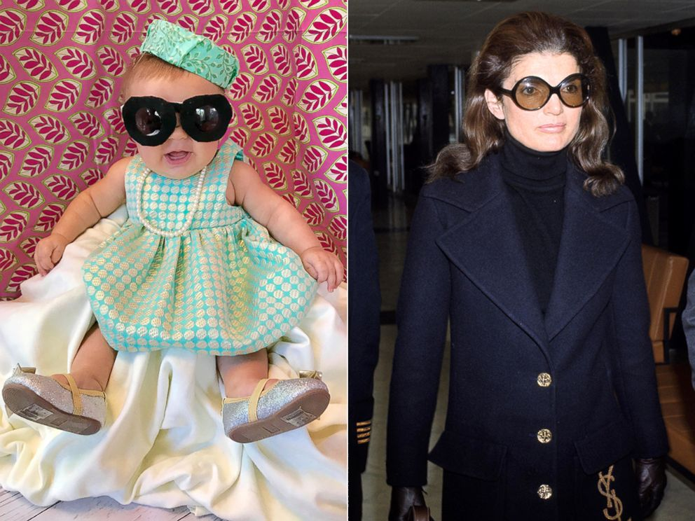 PHOTO: Liberty Wexler, 3 months, is seen here dressed as Jacqueline Kennedy Onassis, the former first lady of the United States.