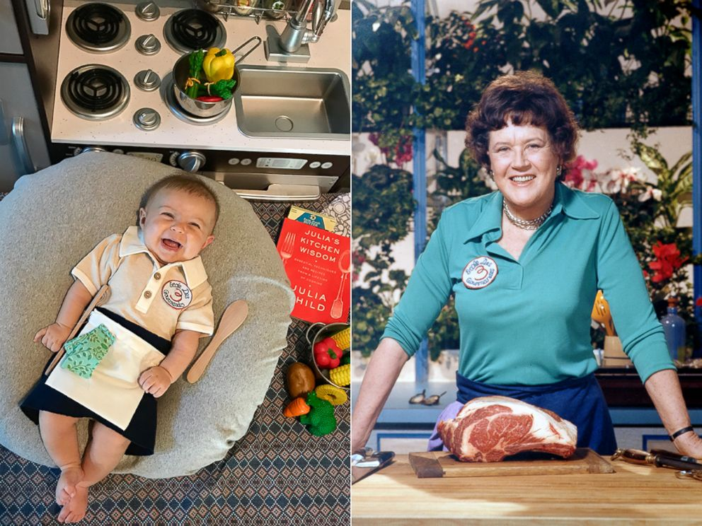 PHOTO: Liberty Wexler, 3 months, is seen here dressed as American chef, Julia Child.