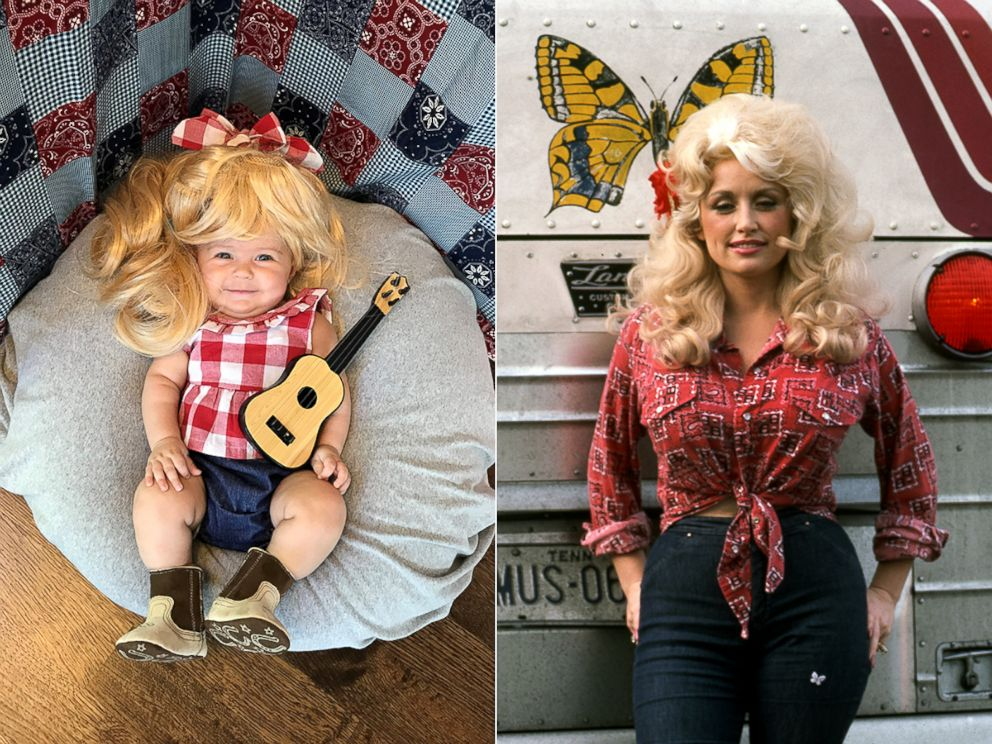 PHOTO: Liberty Wexler, 3 months, is seen here dressed as country singer, Dolly Parton.