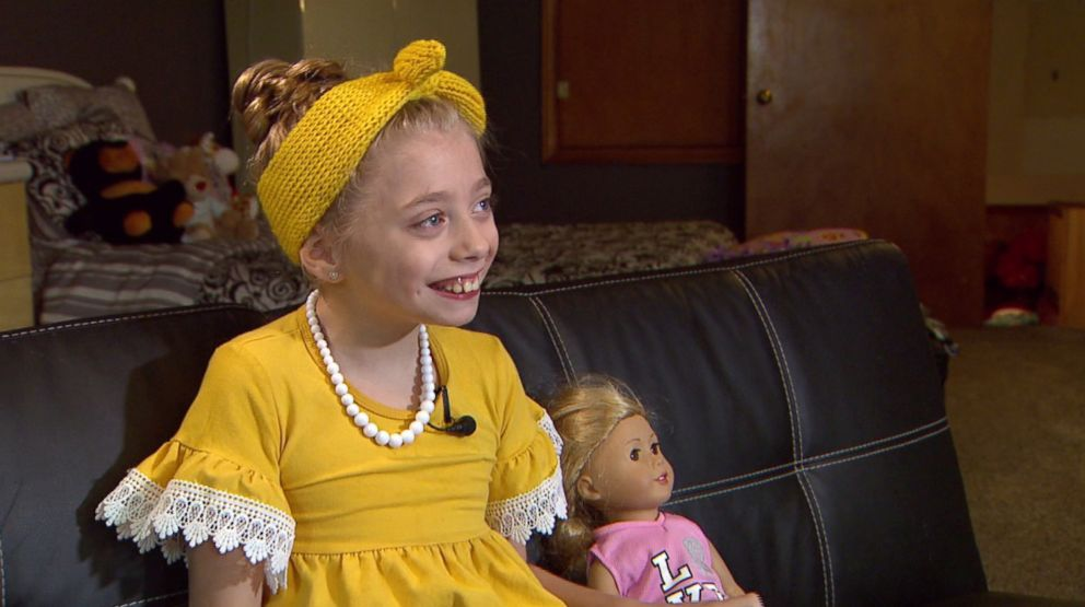 PHOTO: Zoey Harrison, 9, was born with cerebral palsy and uses a wheelchair to get around.