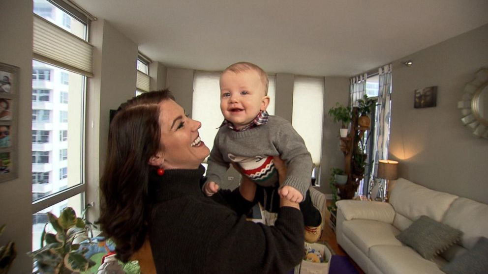 Carolyn Bilson holds her son, Westley.