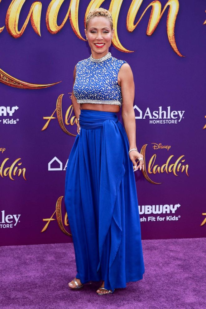 PHOTO: Jada Pinkett Smith attends the premiere of Disneys Aladdin on May 21, 2019, in Los Angeles.
