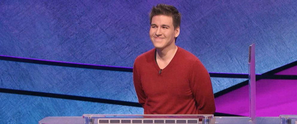 """PHOTO: James Holzhauer appears on the TV show """"Jeopardy!"""" April 17, 2019."""