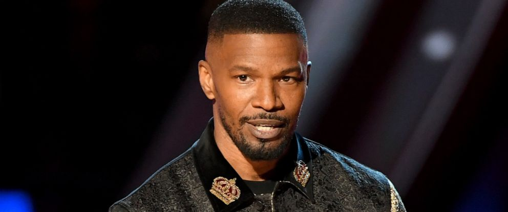 PHOTO: Jamie Foxx speaks on stage at the 2019 iHeartRadio Music Awards which broadcast live on FOX at the Microsoft Theater on March 14, 2019 in Los Angeles, California.