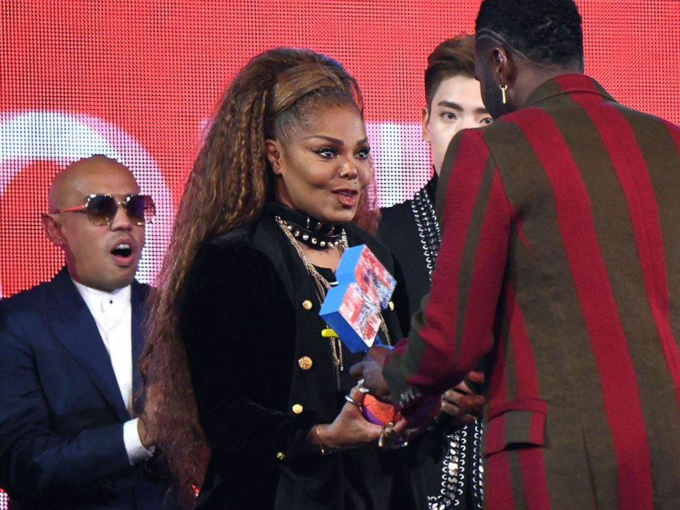 PHOTO: Singer Janet Jackson receives the 2018 Global Icon Award during the 2018 MTV Europe Music Awards held at Bilbao Exhibition Centre, in Bilbao, Spain, Nov. 4, 2018.