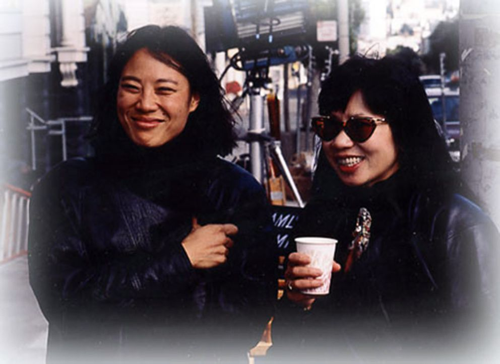 """Executive producer Janet Yang, left, is pictured on the set of the movie """"The Joy Luck Club"""" with Amy Tan, the author of the book by the same name that the film is based on."""