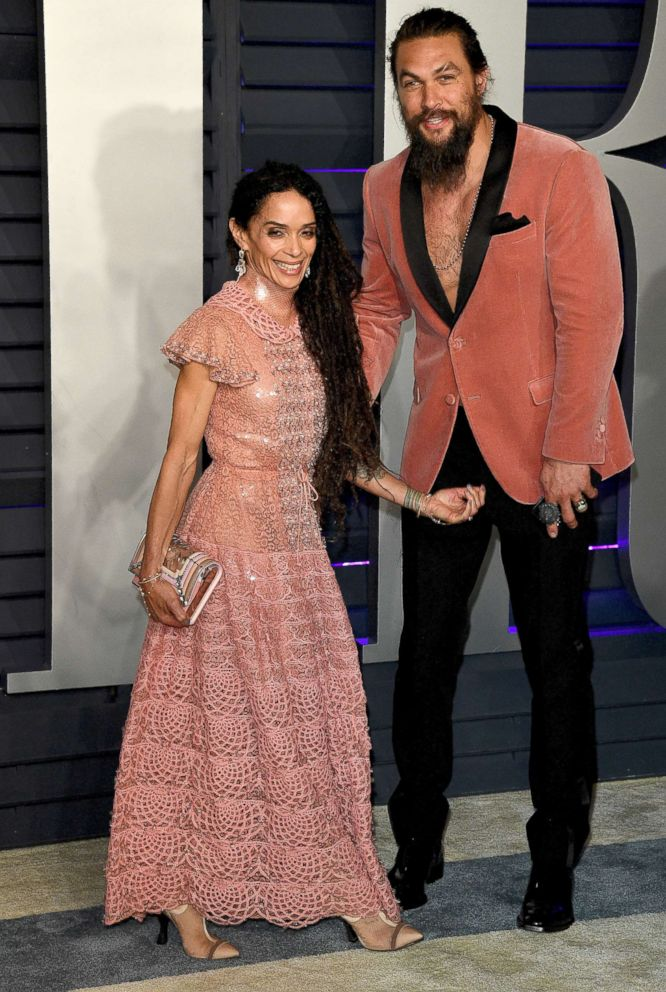 PHOTO: Jason Momoa and Lisa Bonet attend the 2019 Vanity Fair Oscar Party hosted by Radhika Jones at Wallis Annenberg Center for the Performing Arts, Feb. 24, 2019, in Beverly Hills, Calif.