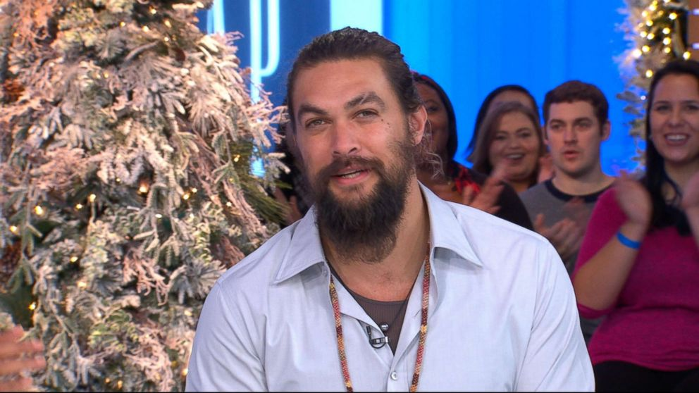 PHOTO: Jason Momoa on Good Morning America, Dec. 3, 2018.
