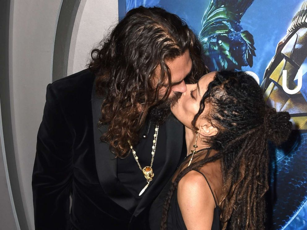 PHOTO: Jason Momoa and his wife Lisa Bonet arrive at the premiere of Warner Bros. Pictures Aquaman at the Chinese Theatre, Dec. 12, 2018 in Los Angeles.