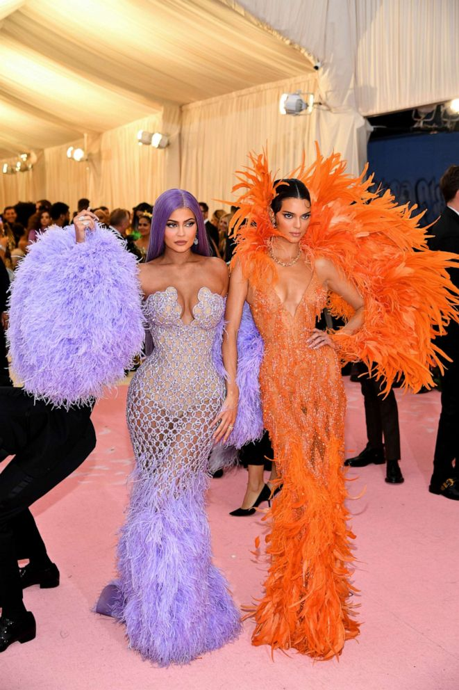 PHOTO: Kylie Jenner and Kendall Jenner attend the 2019 Met Gala Celebrating Camp: Notes on Fashion at the Metropolitan Museum of Art, May 6, 2019, in New York City.