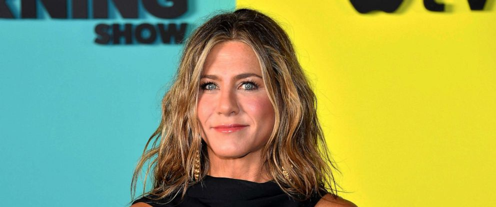 """PHOTO: Jennifer Aniston arrives for Apples """"The Morning Show"""" global premiere at Lincoln Center- David Geffen Hall, Oct. 28, 2019, in New York."""
