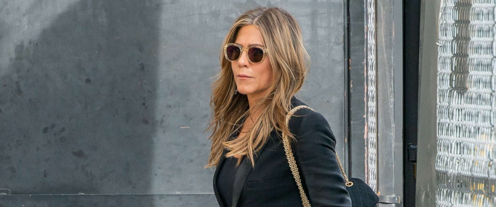 """PHOTO: Jennifer Aniston is seen at """"Jimmy Kimmel Live, """"Oct. 16, 2019 in Los Angeles."""
