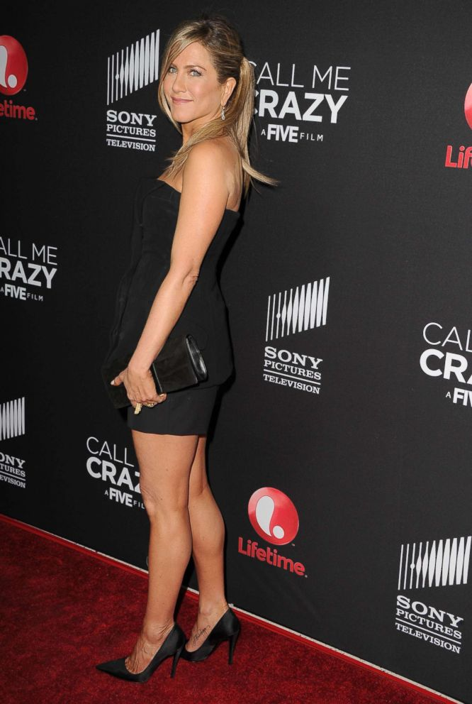 PHOTO: Jennifer Aniston arrives at the World Premiere Of The Lifetime Original Movie Event Call Me Crazy: A Five Film at Pacific Design Center, April 16, 2013, in West Hollywood, Calif.