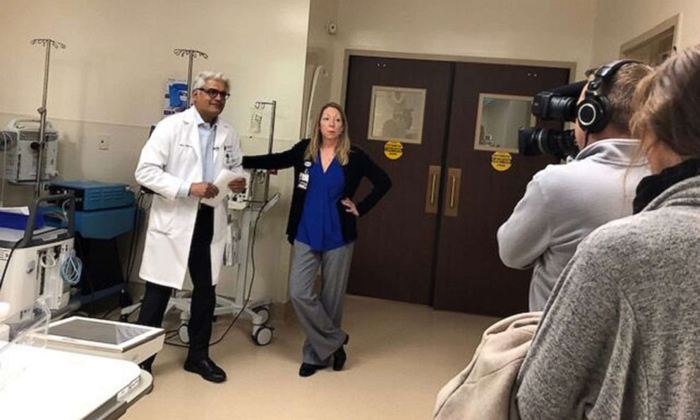 PHOTO: Jennifer Gaydosh poses with her cardiologist, Dr. Vijay Subbarao, at Rose Medical Center in Denver.
