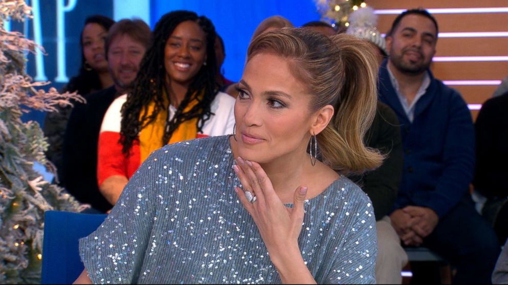 "Jennifer Lopez appears on ABC's ""Good Morning America,"" Dec. 12, 2018."