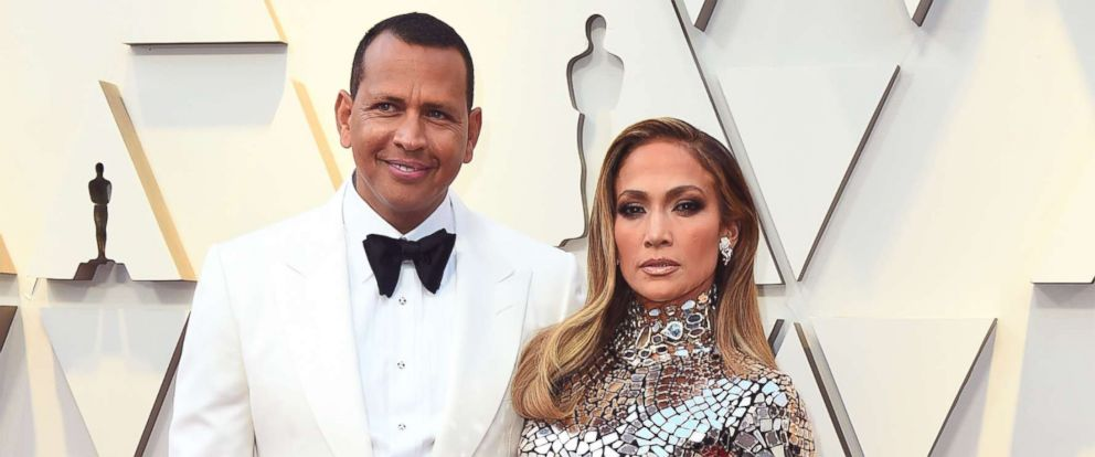 PHOTO: Alex Rodriguez and Jennifer Lopez arrive at the Oscars, Feb. 24, 2019, at the Dolby Theatre in Los Angeles.